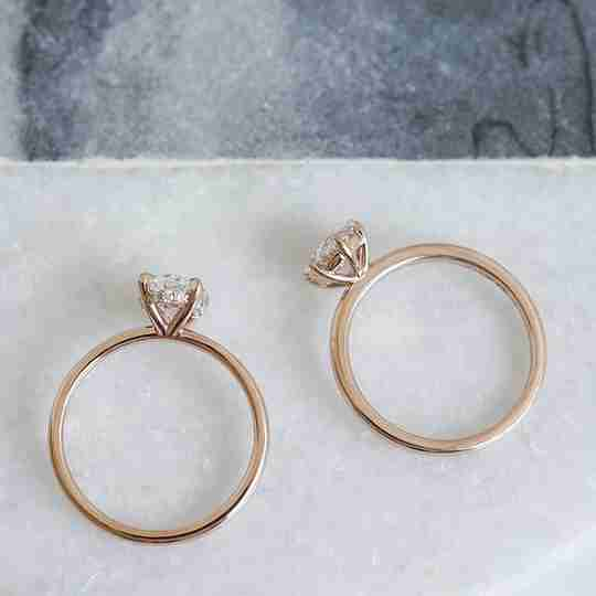 Two rose gold rings by Do Amore
