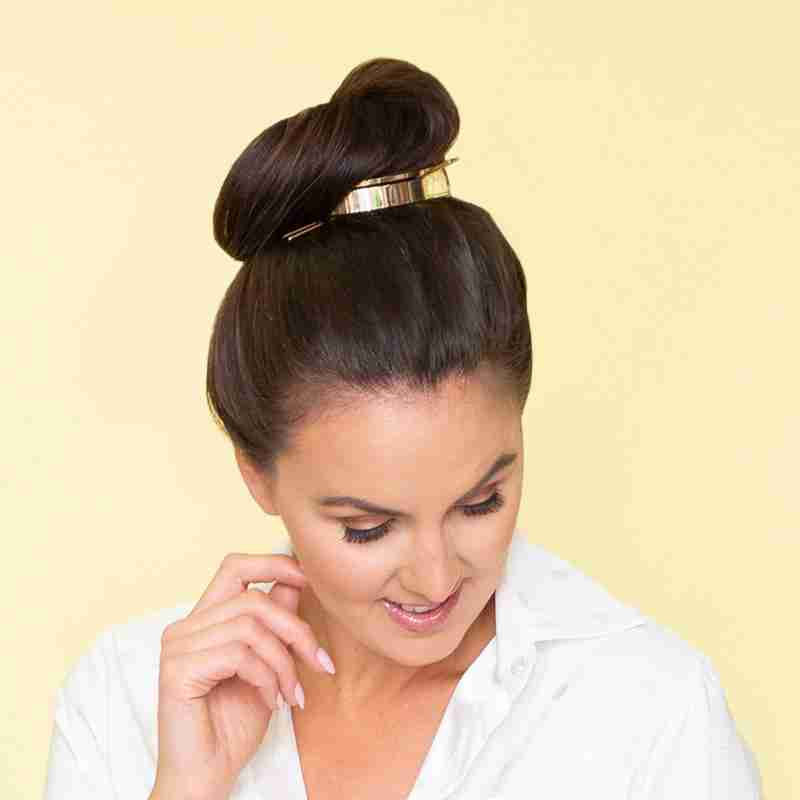 Lea Messy Bun Hair (Gold)