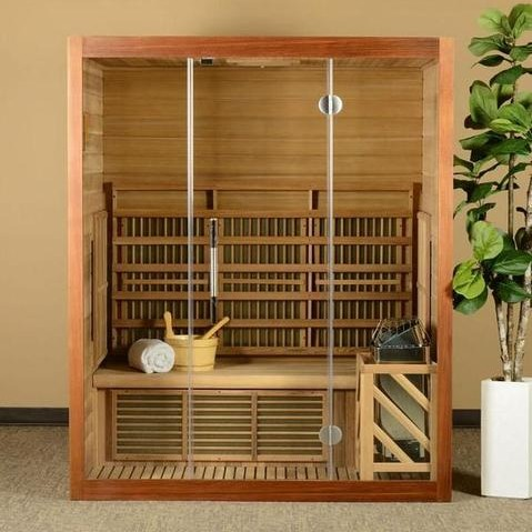 Hybrid Sauna - Both Traditional and Infrared