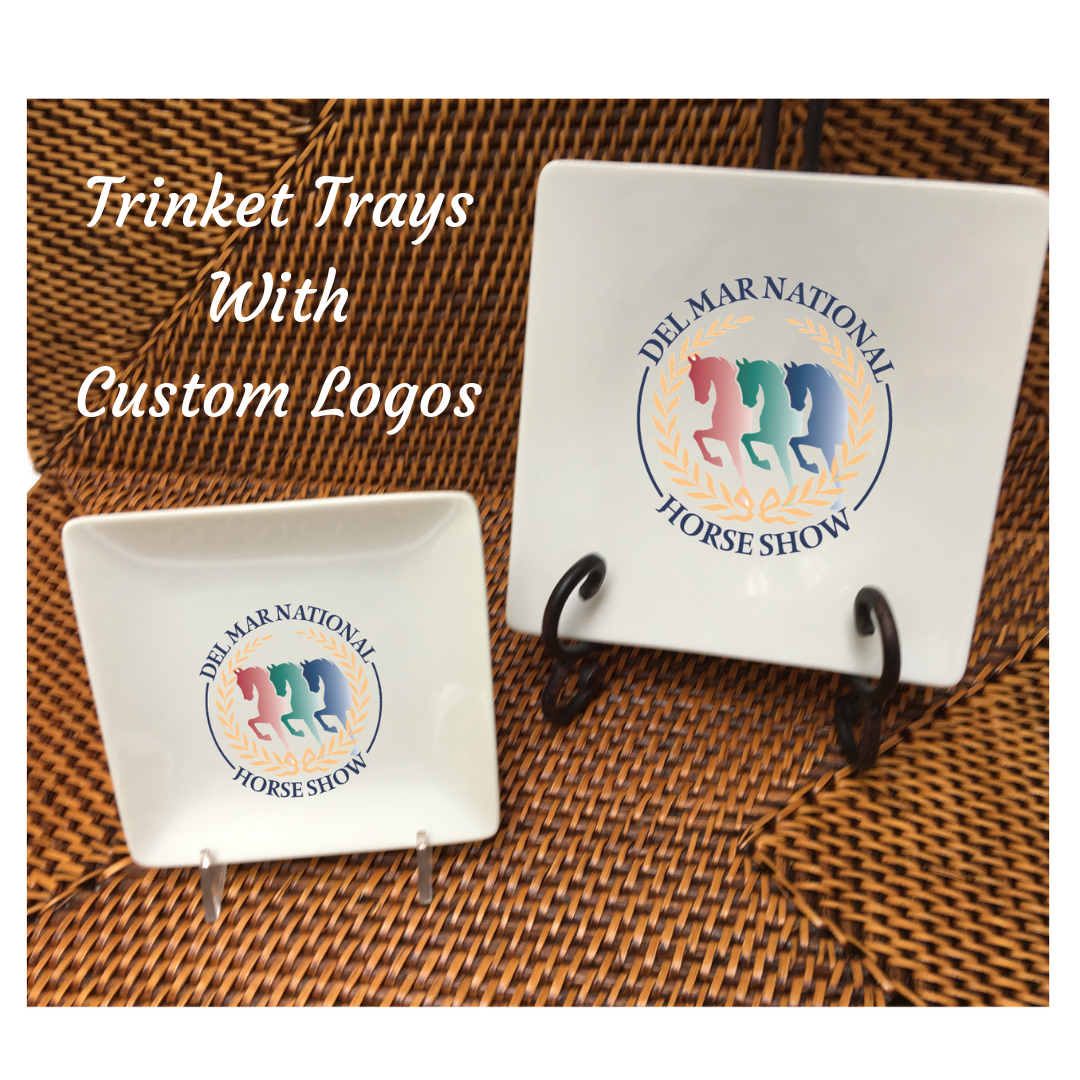 Trinket Trays are our newest gift that can be personalized with YOUR logo.