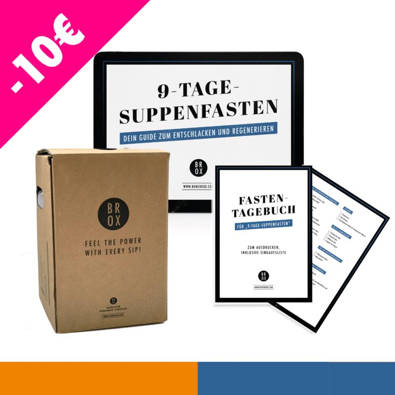 """""""9-Tage-Suppenfasten"""" Box mit Knochenbrühe Bio-Rind & -Huhn"""