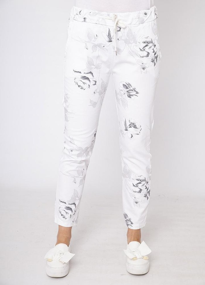 Rose Crinkle Cotton Trouser