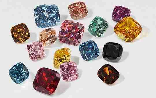 Swarovski created diamonds in different colors