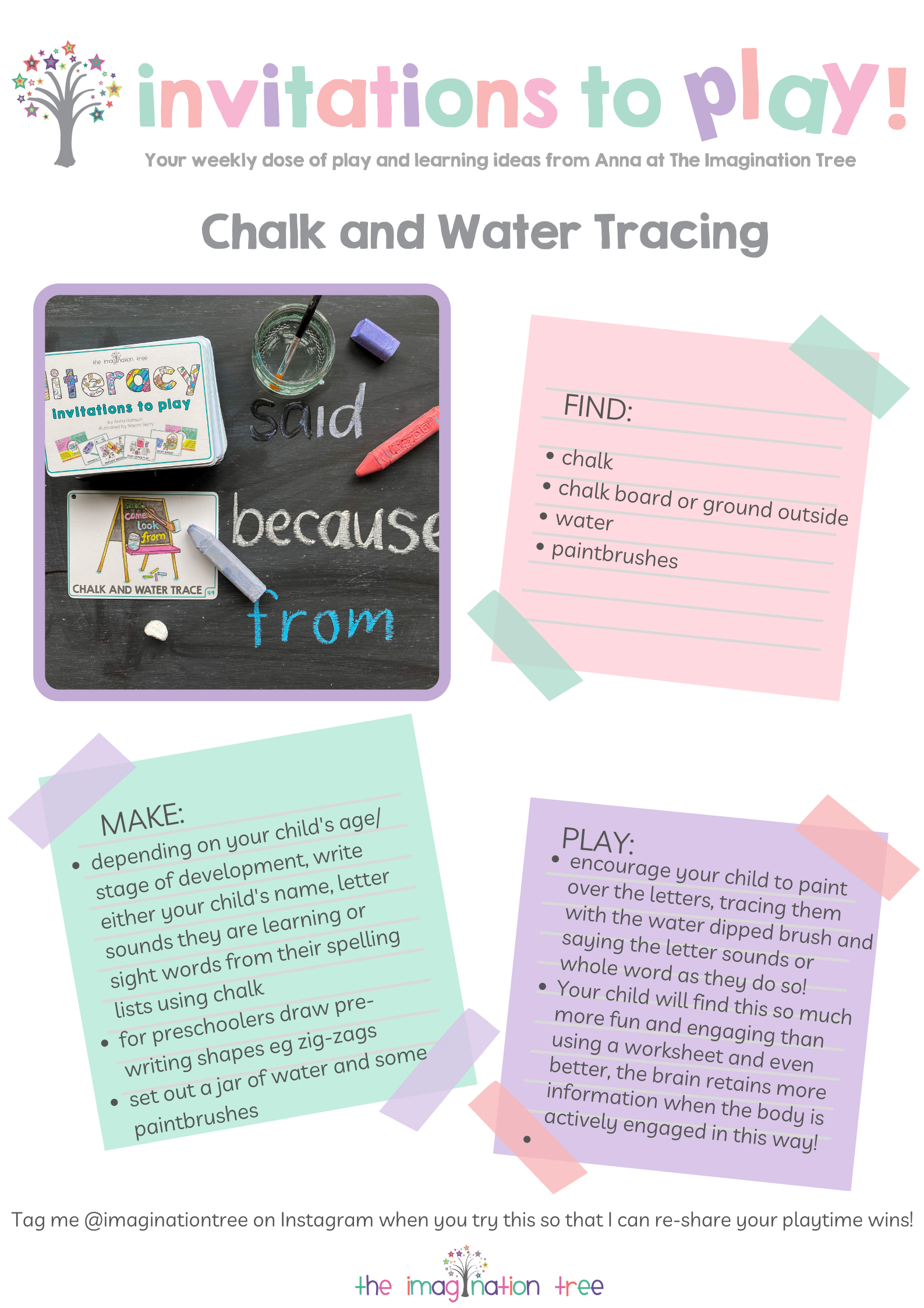 Chalk and Water Tracing