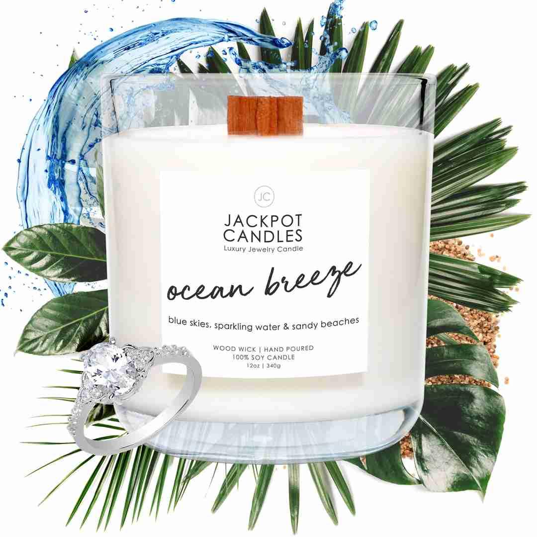 ocean breeze scented candle