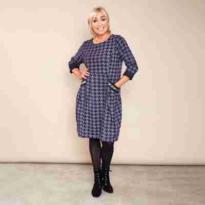 Kate Houndstooth Dress(Navy)