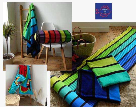 Tous nos matelas, sont imaginés, dessinés dans nos locaux en auvergne ou tous nos produits y sont stockés. Nos matelas de plage sont produits en Inde . Nos collections de matelas de plage sont généralement coordonnées à certains de nos serviettes et sacs de plage.