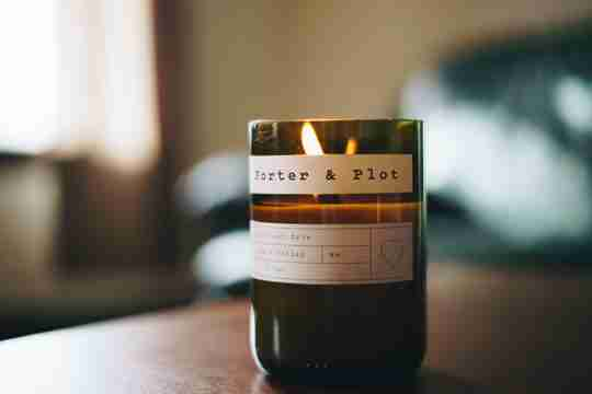 aromatherapy candle in room