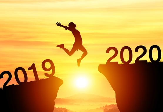 Met goede voornemens het nieuwe jaar in springen.