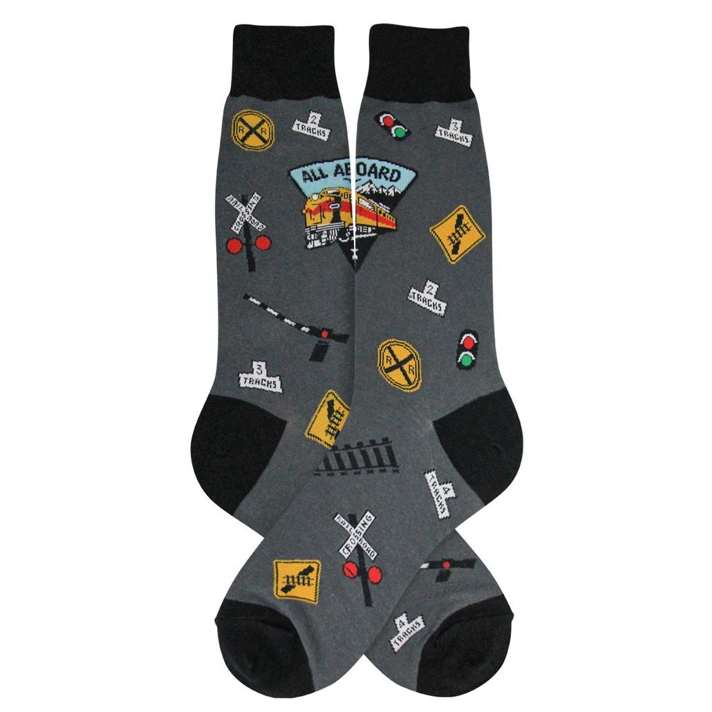 Gabby Maria Men's Railroad Crew Socks