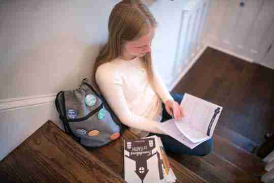 bible study backpack teen girl
