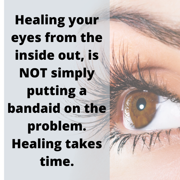 Healing your eyes from the inside out