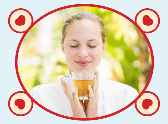 rooibos rocks girl holding honeybush tea