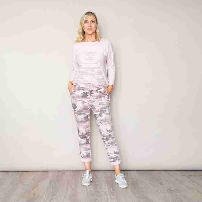 Military Style Jegging(Pink)
