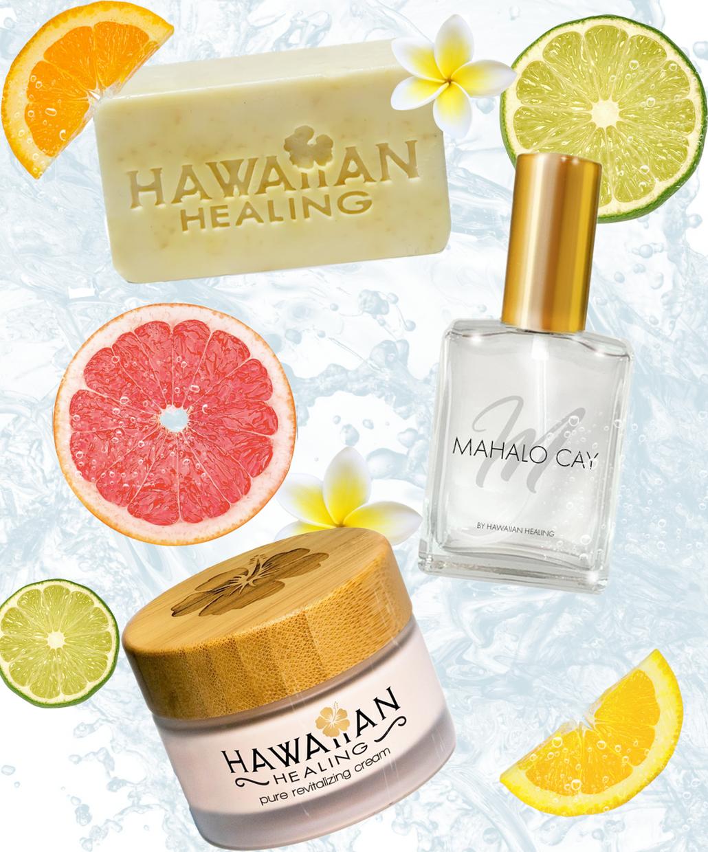 Beauty From the Beach   100 Gram Cream   KioKio Citrus Splash Beauty Bar 5 oz   30 ml Mahalo Cay Perfume