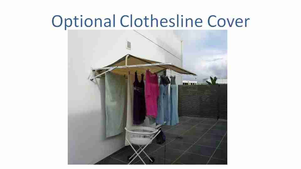 2400mm wide clothesline cover