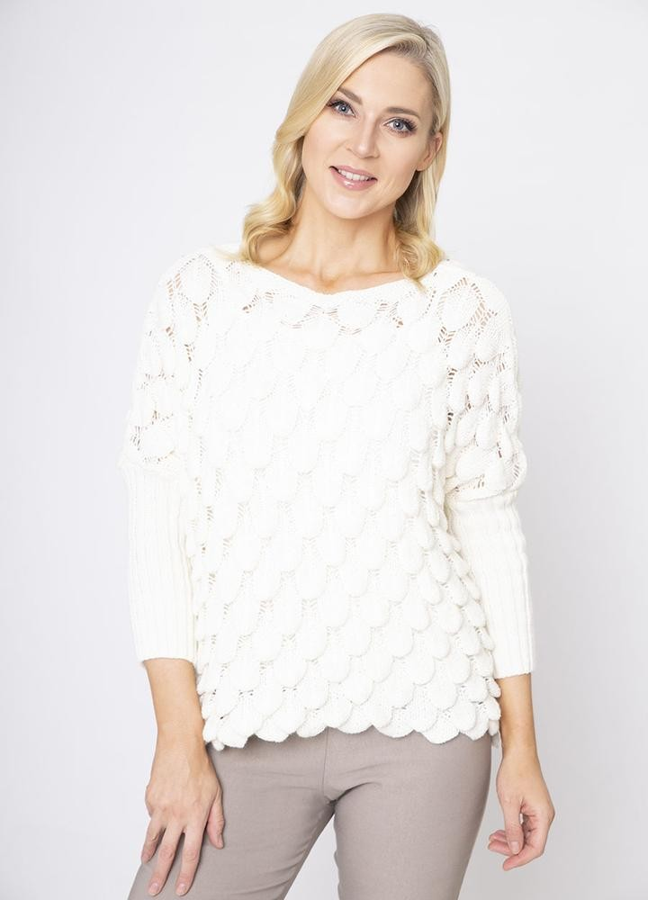 Wave Chunky Jumper in Cream