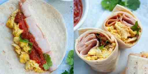 healthy breakfast burrito eggs turkey macro friendly
