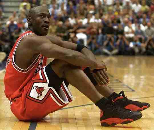 Michael Jordan in the Air Jordan 13