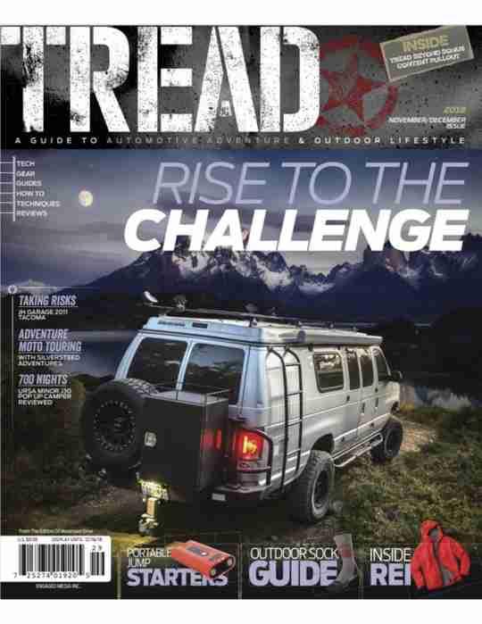 Tread Magazine - November/December 2018 Cover Page
