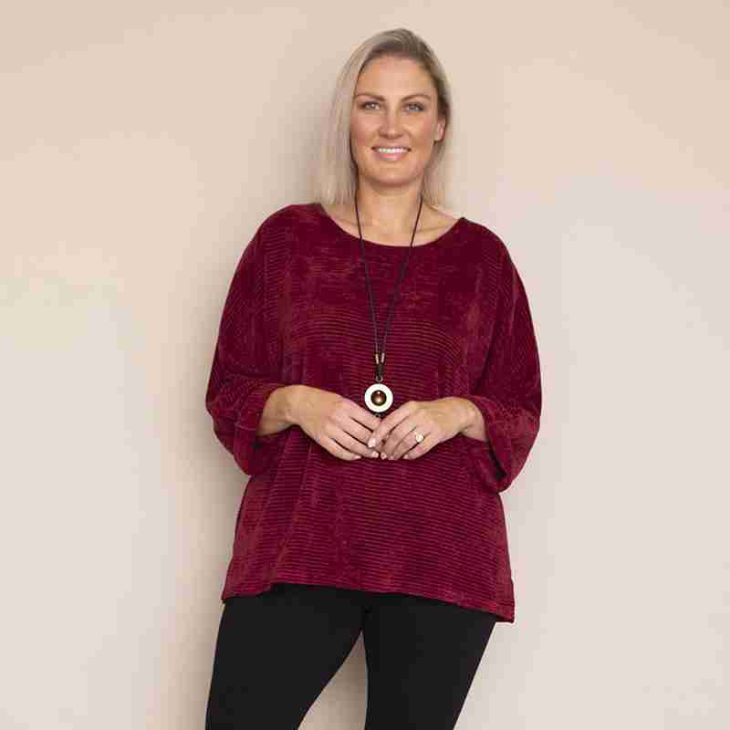 Emily Vevet Top (Wine)