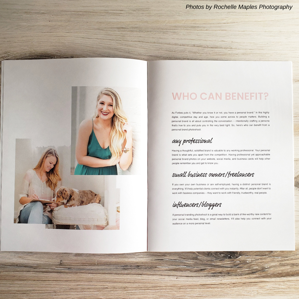 Personal Brand Photography Magazine Template