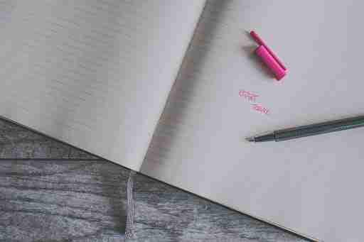 start today written in notebook journal