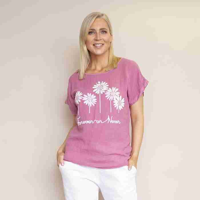 Camila T-Shirt (Raspberry)
