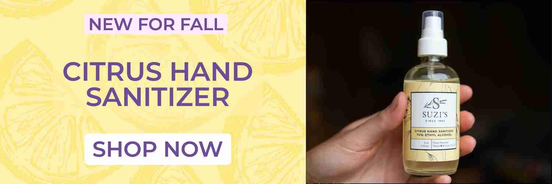 Lemon citrus hand sanitizer - Suzi's Lavender