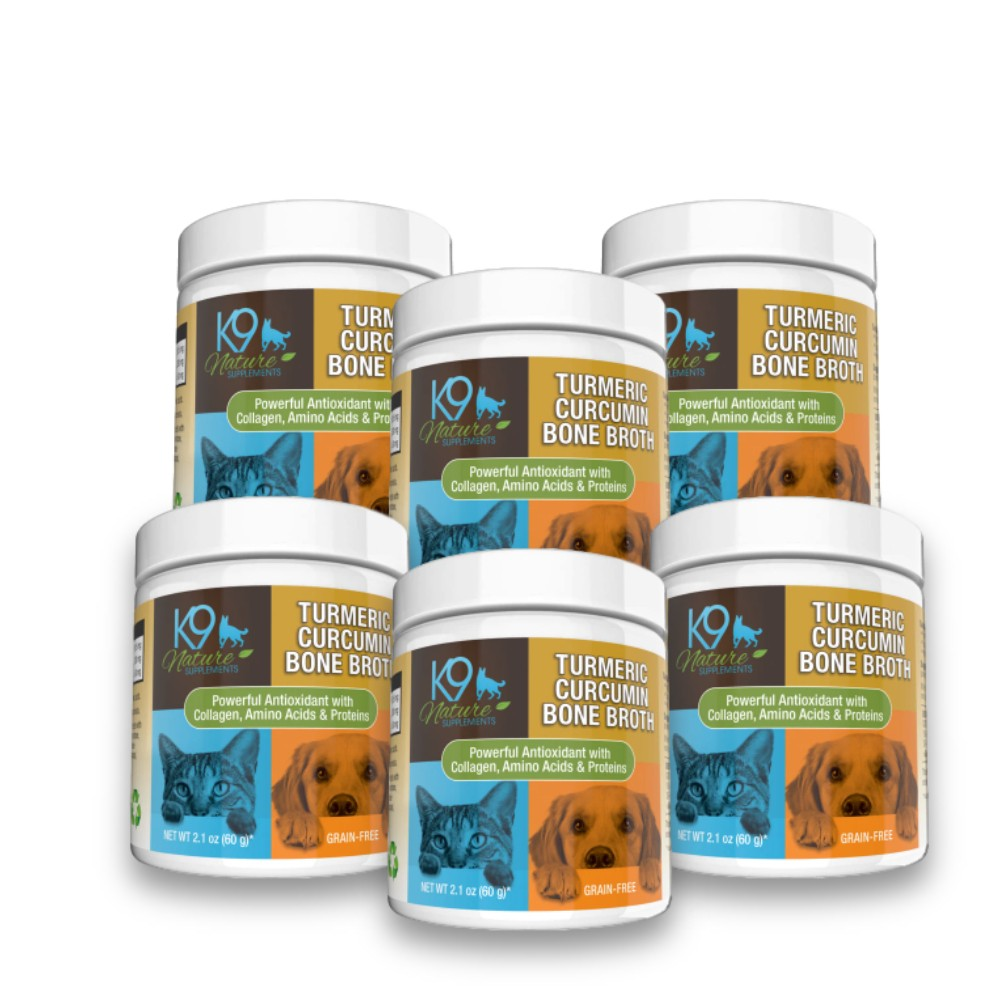Turmeric Curcumin Bone Broth For Pets 6-Pack