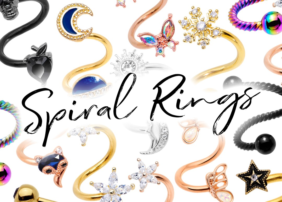 Spiral Belly Rings