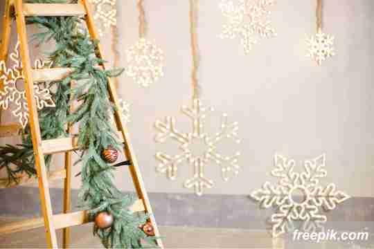 ide dekorasi natal, tangga untuk natal