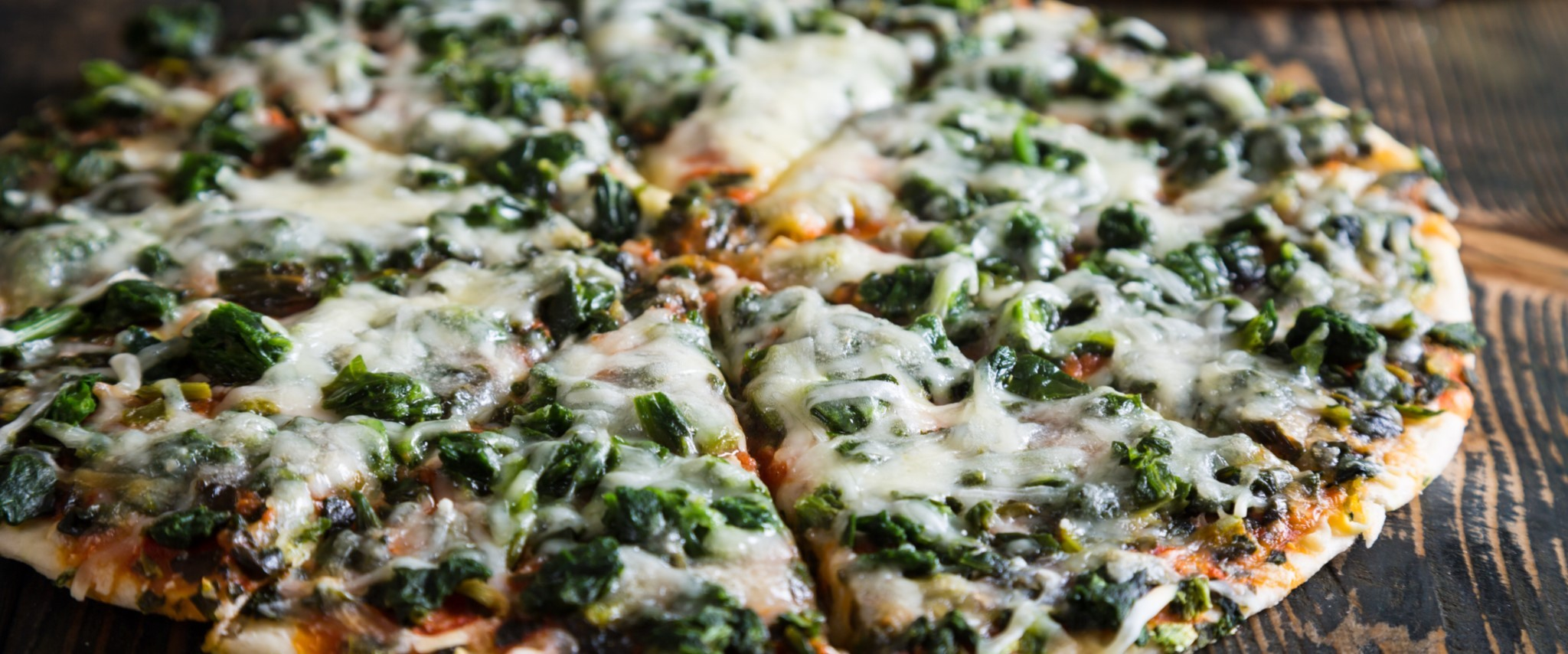 Game Day Food Keto Cheese Spinach Pizza