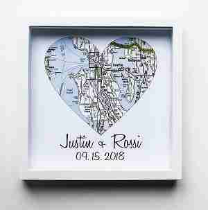 Map Art for couples