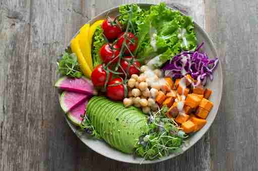 colorful healthy vegetable bowl