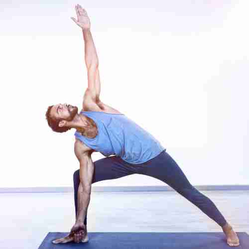 Yoga Man Stretching