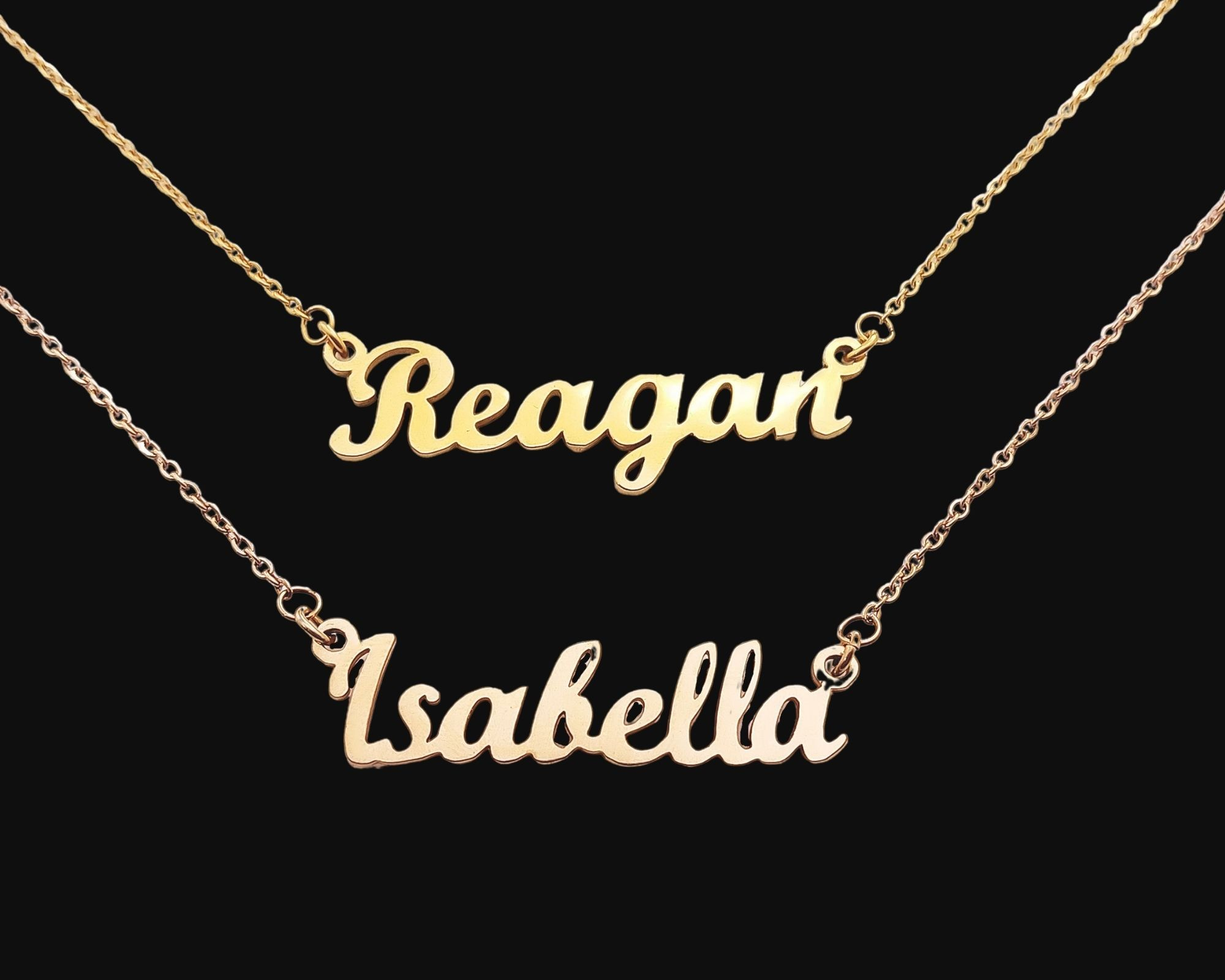 Layer Name Necklaces