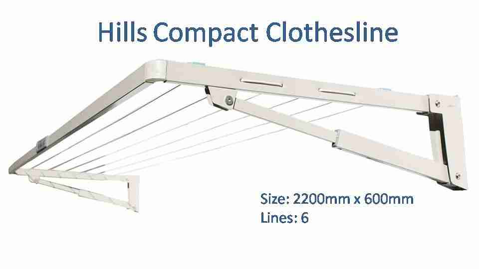 hills compact 2200mm wide clothesline dimensions