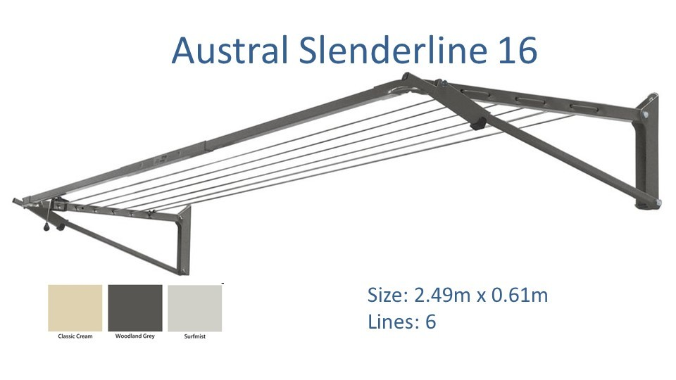 austral slenderline 2.4m wide clothesline dimensions