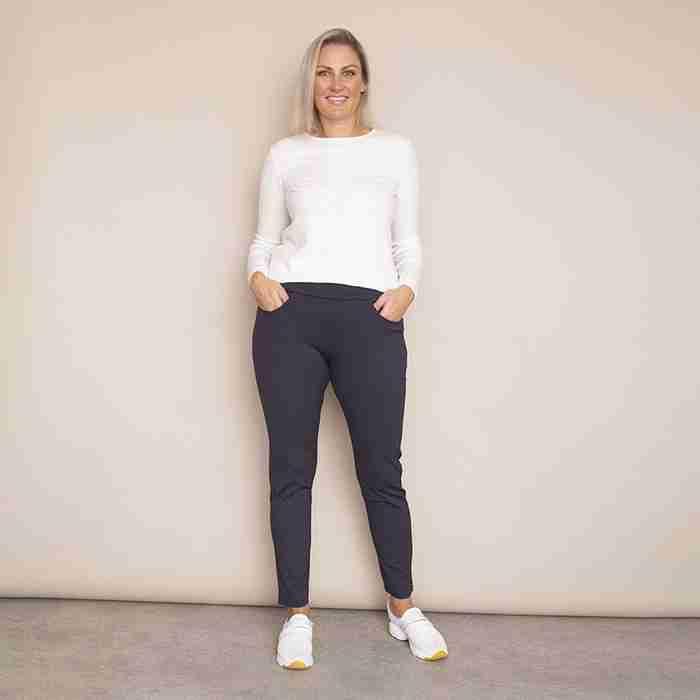Ann's Stretch Waist Trousers - Plus Size(Grey)