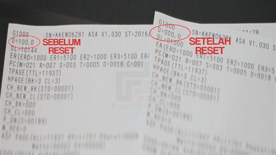 perbedaan sebelum dan sesudah reset printer