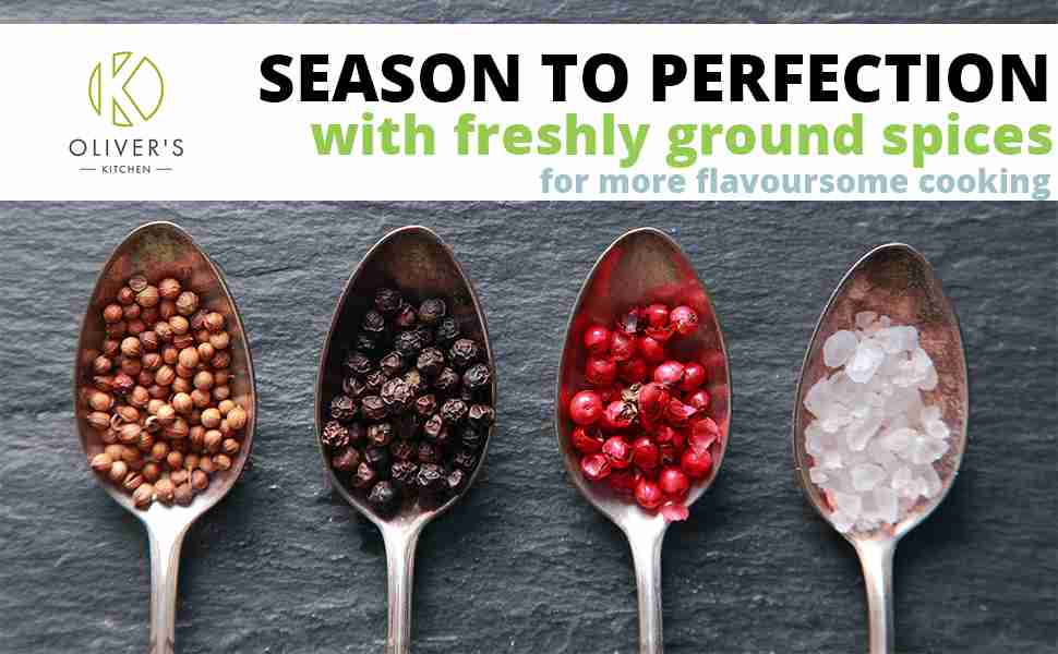 Season to perfection with freshly ground spices for more flavoursome cooking.