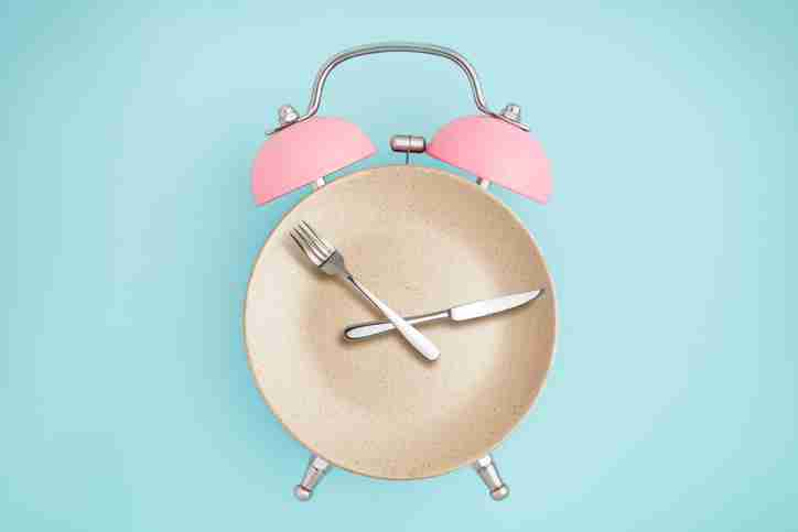 Clock with a knife and fork