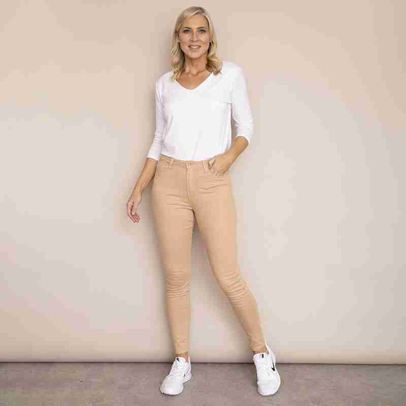 Kylie Cotton Trousers(Beige)