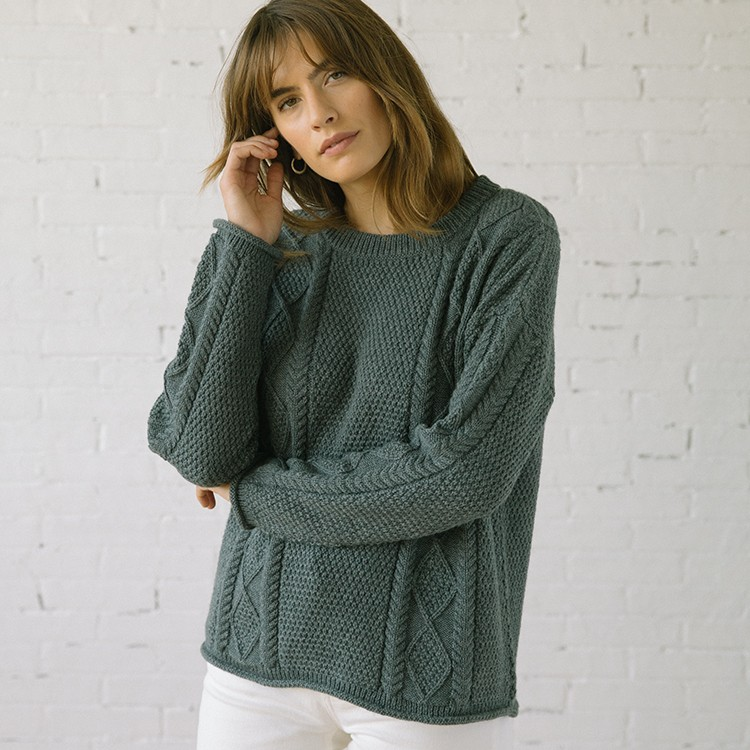 Modern Fisher Sweater Alpaca Smoke