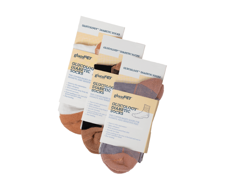 3 x Pack of Glucology® Diabetic Copper Based Classic Socks | Unisex
