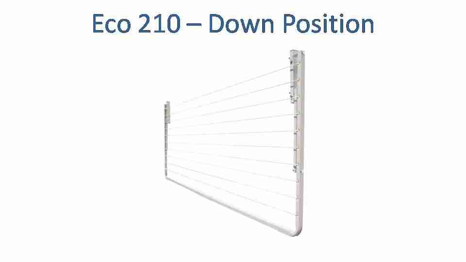 eco 210 2100mm wide clothesline folded down