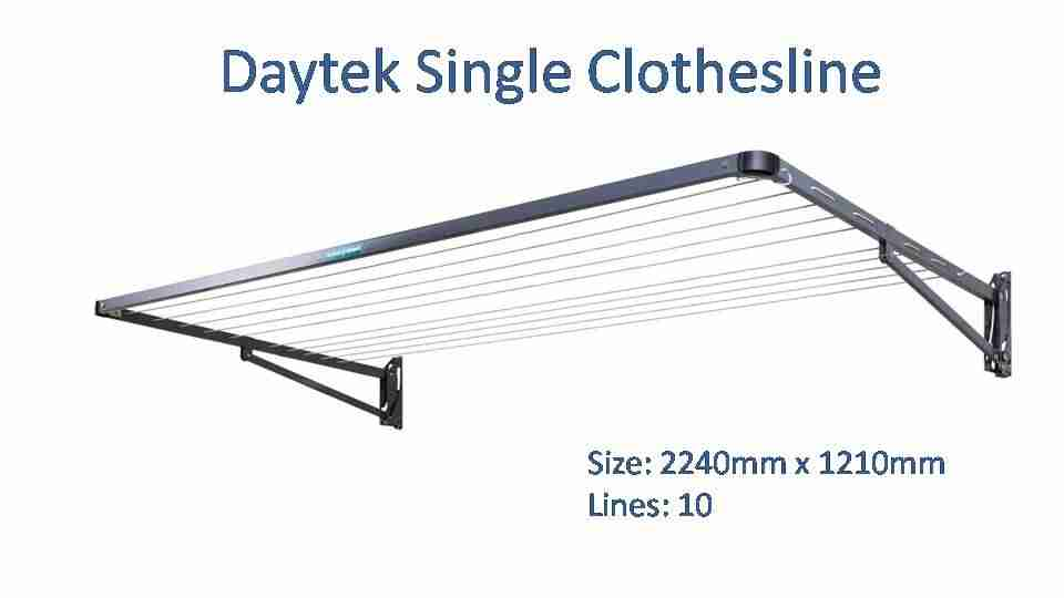 daytek single 2200mm wide clothesline dimensions