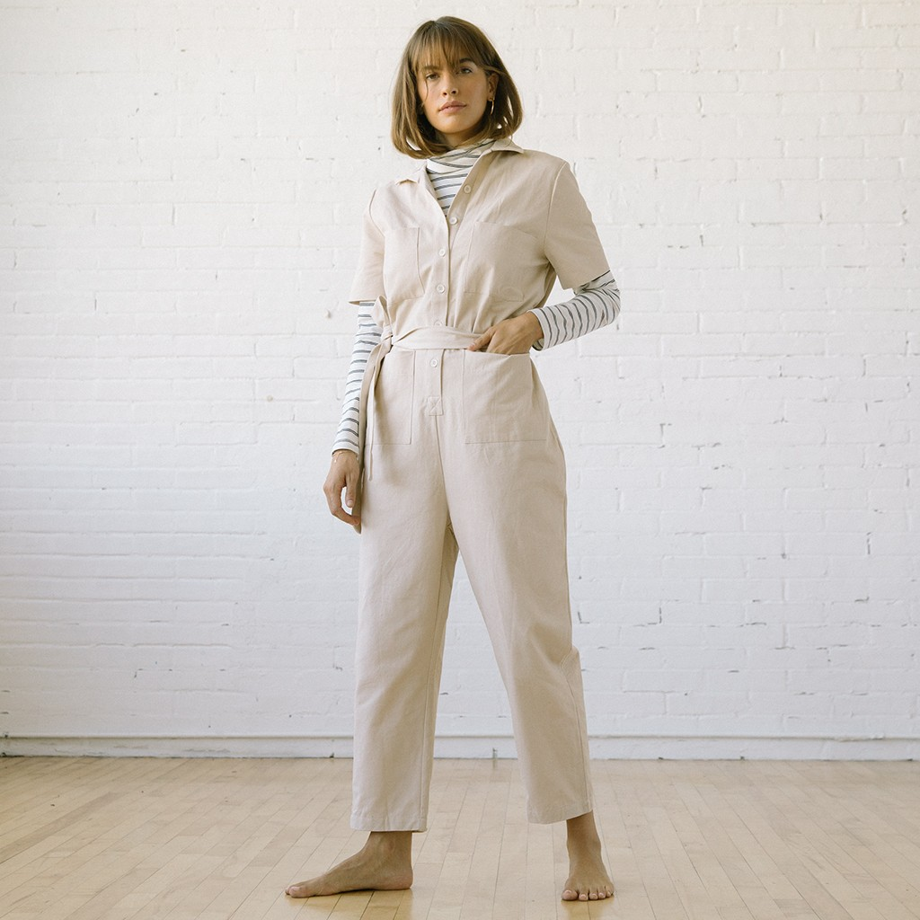 Finn Jumpsuit Natural Canvas