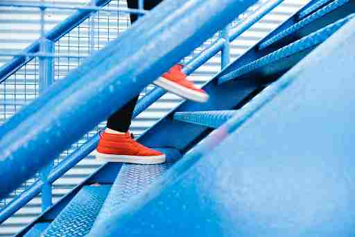 LISS low intensity steady state cardio walking stairs climbing stairs